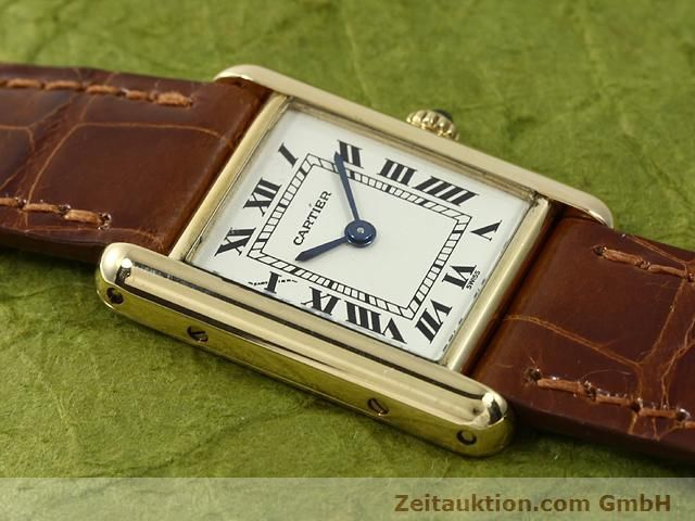 Used luxury watch Cartier Tank 18 ct gold quartz Kal. 157.06  | 140749 13