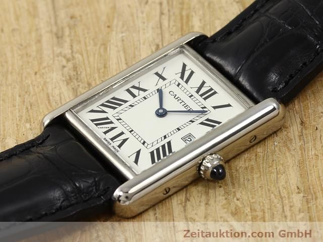 Used luxury watch Cartier Tank 18 ct white gold quartz Kal. 688  | 140764 01