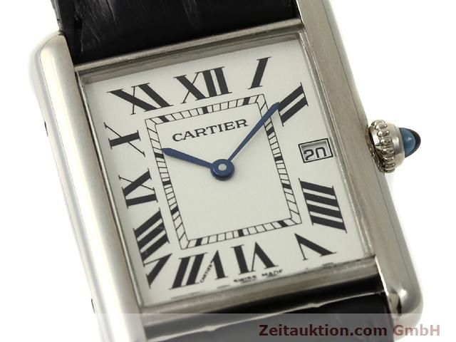 Used luxury watch Cartier Tank 18 ct white gold quartz Kal. 688  | 140764 02