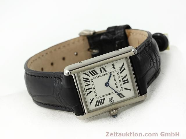Used luxury watch Cartier Tank 18 ct white gold quartz Kal. 688  | 140764 03