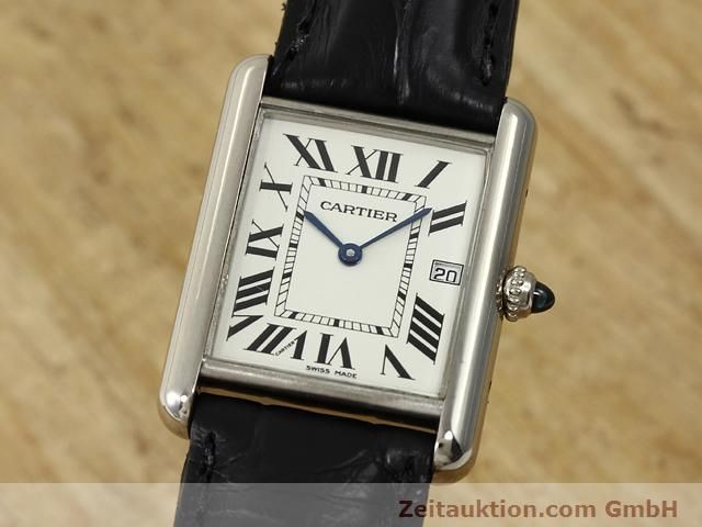 Used luxury watch Cartier Tank 18 ct white gold quartz Kal. 688  | 140764 04