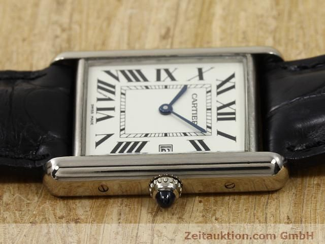 Used luxury watch Cartier Tank 18 ct white gold quartz Kal. 688  | 140764 05