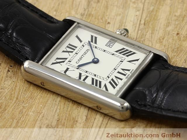 Used luxury watch Cartier Tank 18 ct white gold quartz Kal. 688  | 140764 12