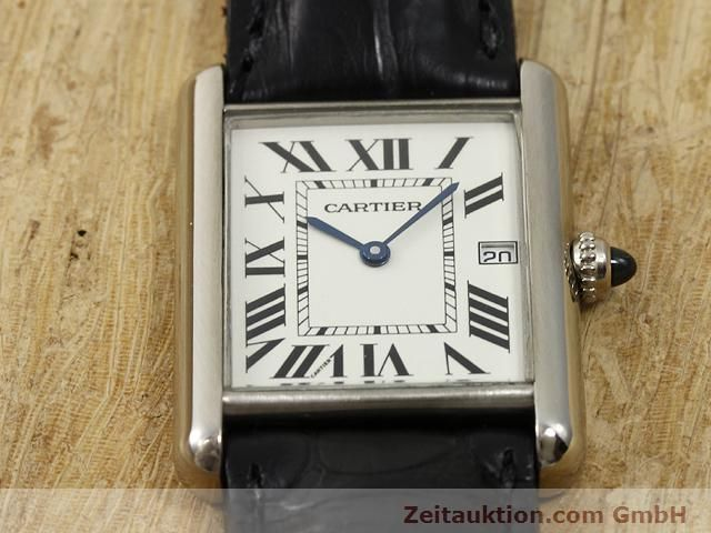 Used luxury watch Cartier Tank 18 ct white gold quartz Kal. 688  | 140764 13