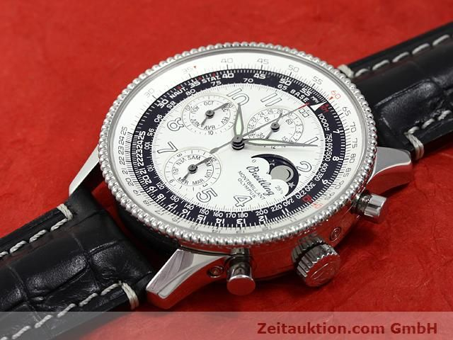 Used luxury watch Breitling Montbrillant chronograph steel automatic Kal. ETA 2892A2 Ref. A19350  | 140774 01