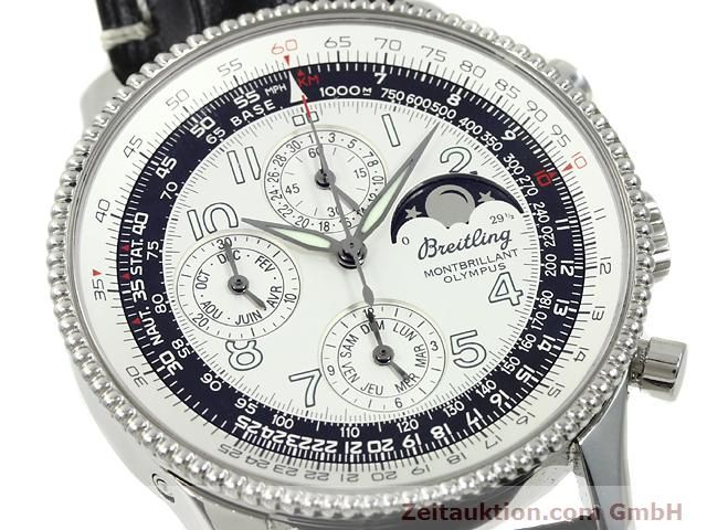 Used luxury watch Breitling Montbrillant chronograph steel automatic Kal. ETA 2892A2 Ref. A19350  | 140774 02