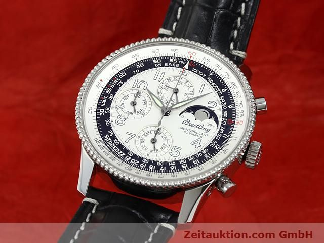 Used luxury watch Breitling Montbrillant chronograph steel automatic Kal. ETA 2892A2 Ref. A19350  | 140774 04