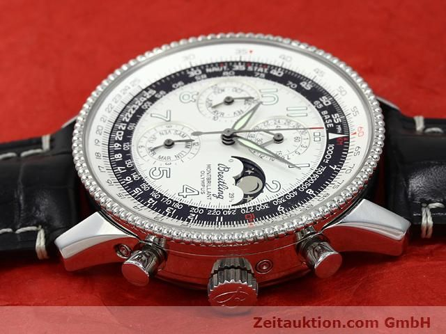Used luxury watch Breitling Montbrillant chronograph steel automatic Kal. ETA 2892A2 Ref. A19350  | 140774 05