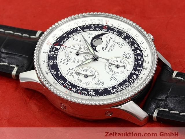 Used luxury watch Breitling Montbrillant chronograph steel automatic Kal. ETA 2892A2 Ref. A19350  | 140774 15