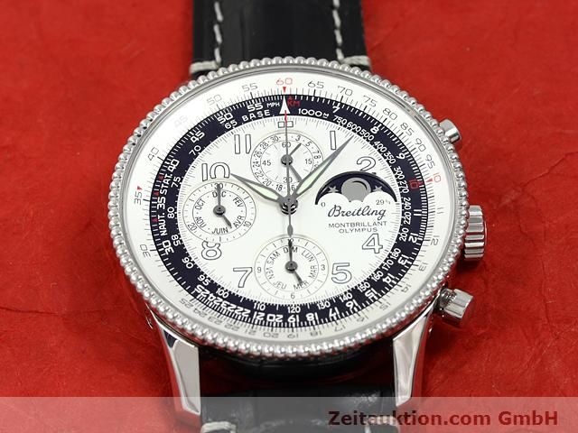 Used luxury watch Breitling Montbrillant chronograph steel automatic Kal. ETA 2892A2 Ref. A19350  | 140774 16