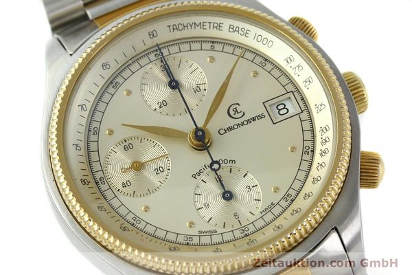 Used luxury watch Chronoswiss Pacific steel / gold automatic Kal. VAL 7750 7514  | 140784 02