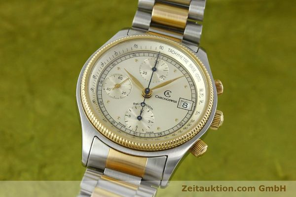 Used luxury watch Chronoswiss Pacific steel / gold automatic Kal. VAL 7750 7514  | 140784 04