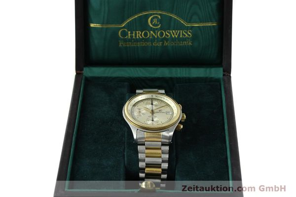 Used luxury watch Chronoswiss Pacific steel / gold automatic Kal. VAL 7750 7514  | 140784 07