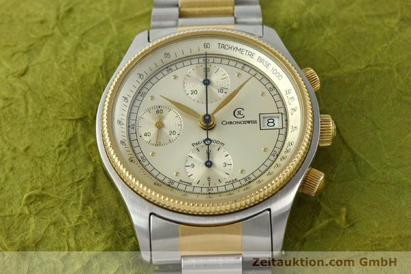 Used luxury watch Chronoswiss Pacific steel / gold automatic Kal. VAL 7750 7514  | 140784 14