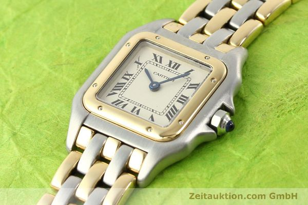 Used luxury watch Cartier Panthere steel / gold quartz  | 140789 01