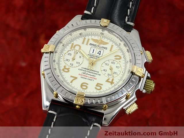 Used luxury watch Breitling Crosswind steel / gold automatic Kal. ETA 2892-2 Ref. B44356  | 140790 04