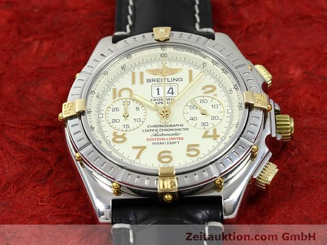 Used luxury watch Breitling Crosswind steel / gold automatic Kal. ETA 2892-2 Ref. B44356  | 140790 15