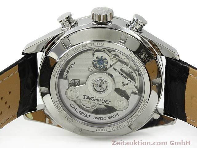 Used luxury watch Tag Heuer Carrera steel automatic Kal. 1887 Ref. CAR2111  | 140810 09