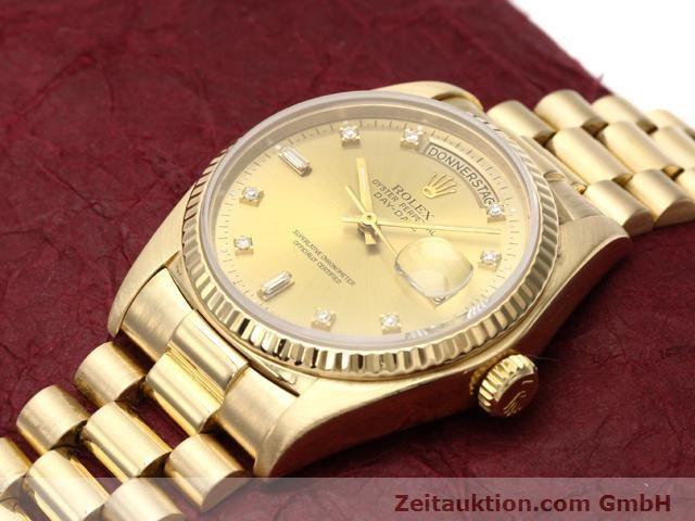 Used luxury watch Rolex Datejust 18 ct gold automatic Kal. 3055 Ref. 18038  | 140815 01