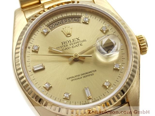 Used luxury watch Rolex Datejust 18 ct gold automatic Kal. 3055 Ref. 18038  | 140815 02
