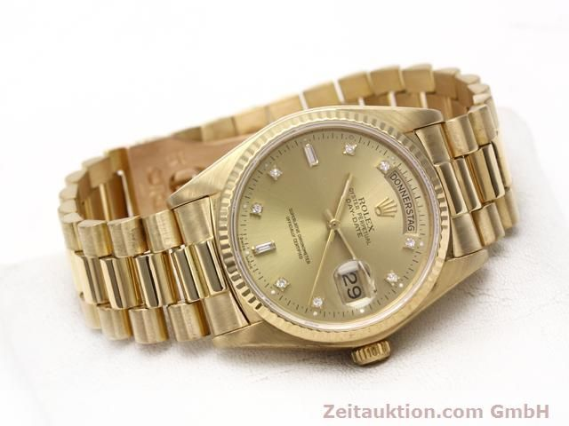 Used luxury watch Rolex Datejust 18 ct gold automatic Kal. 3055 Ref. 18038  | 140815 03