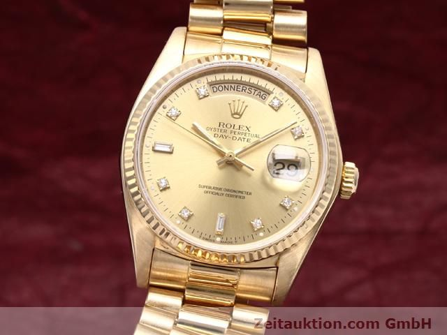 Used luxury watch Rolex Datejust 18 ct gold automatic Kal. 3055 Ref. 18038  | 140815 04