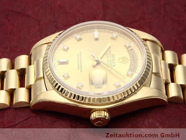 Used luxury watch Rolex Datejust 18 ct gold automatic Kal. 3055 Ref. 18038  | 140815 05