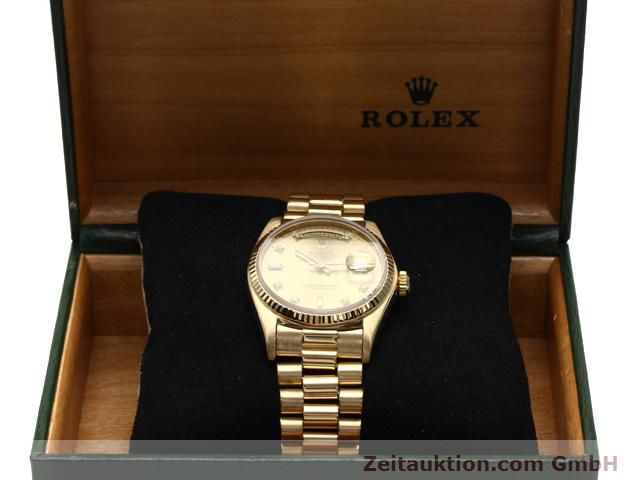 Used luxury watch Rolex Datejust 18 ct gold automatic Kal. 3055 Ref. 18038  | 140815 07