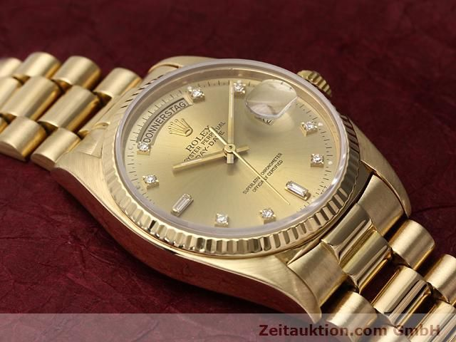Used luxury watch Rolex Datejust 18 ct gold automatic Kal. 3055 Ref. 18038  | 140815 14