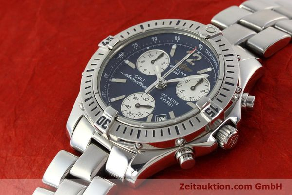 Used luxury watch Breitling Colt chronograph steel quartz Kal. B53 Ref. A53050  | 140819 01