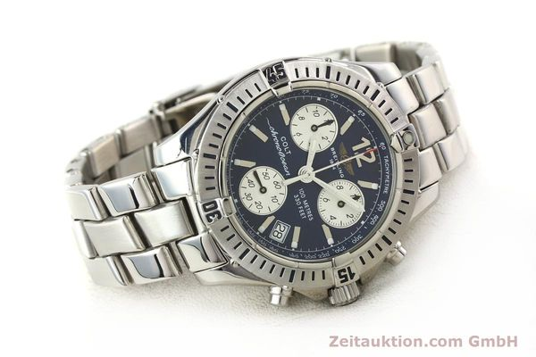 Used luxury watch Breitling Colt chronograph steel quartz Kal. B53 Ref. A53050  | 140819 03