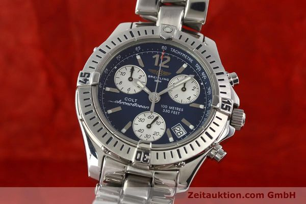 Used luxury watch Breitling Colt chronograph steel quartz Kal. B53 Ref. A53050  | 140819 04