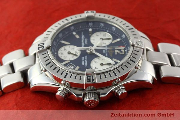Used luxury watch Breitling Colt chronograph steel quartz Kal. B53 Ref. A53050  | 140819 05