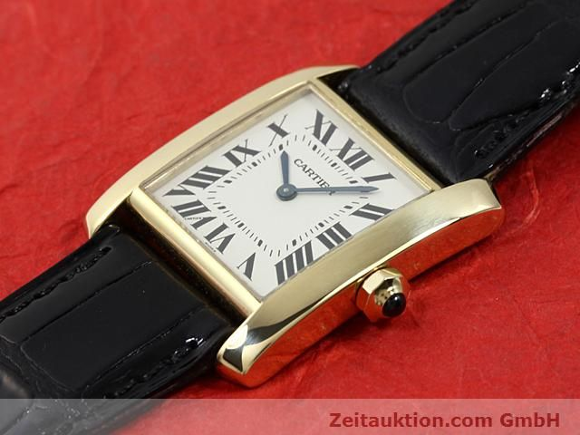 montre de luxe d occasion Cartier Tank or 18 ct quartz Kal. 157.06  | 140820 01