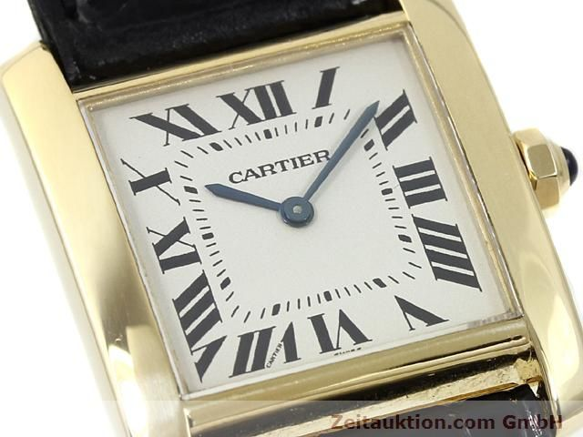 montre de luxe d occasion Cartier Tank or 18 ct quartz Kal. 157.06  | 140820 02