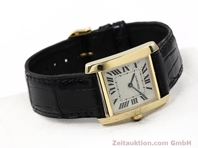 Used luxury watch Cartier Tank 18 ct gold quartz Kal. 157.06  | 140820 03