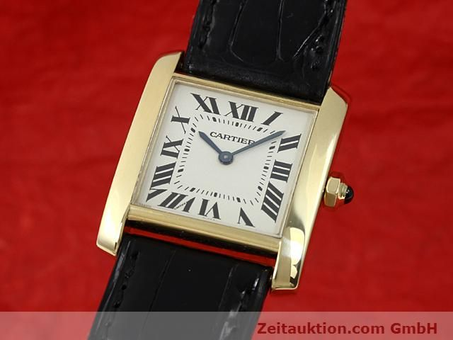 Used luxury watch Cartier Tank 18 ct gold quartz Kal. 157.06  | 140820 04