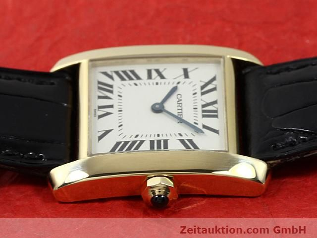 montre de luxe d occasion Cartier Tank or 18 ct quartz Kal. 157.06  | 140820 05