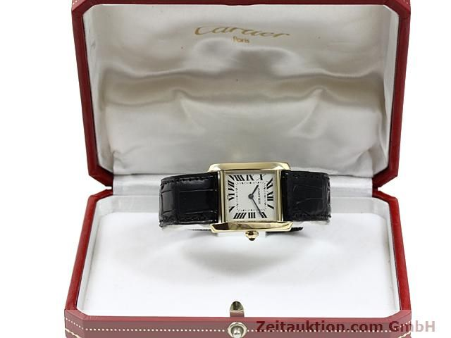 Used luxury watch Cartier Tank 18 ct gold quartz Kal. 157.06  | 140820 07
