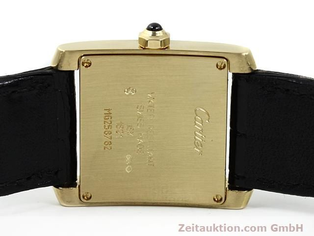 Used luxury watch Cartier Tank 18 ct gold quartz Kal. 157.06  | 140820 09