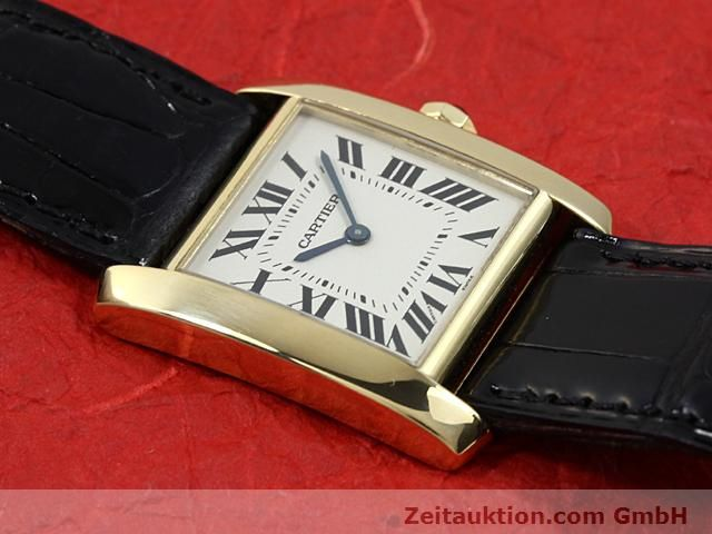 montre de luxe d occasion Cartier Tank or 18 ct quartz Kal. 157.06  | 140820 14