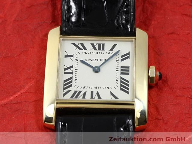 Used luxury watch Cartier Tank 18 ct gold quartz Kal. 157.06  | 140820 15