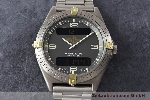 Used luxury watch Breitling Aerospace titanium / gold quartz Ref. 80360  | 140821 15