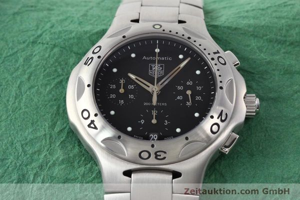 Used luxury watch Tag Heuer Kirium chronograph steel automatic Kal. ETA 2894-2 Ref. CL2110  | 140823 15