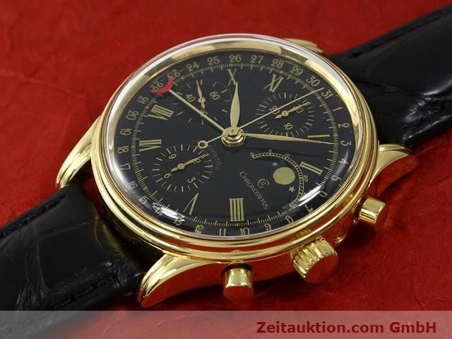 Used luxury watch Chronoswiss * gold-plated automatic Kal. VAL 7750  | 140824 01