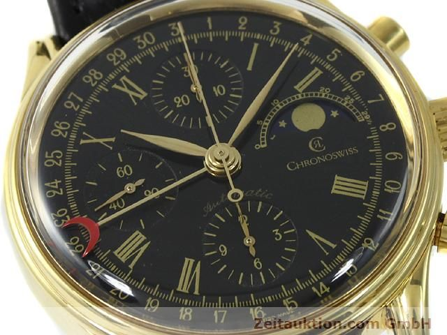 Used luxury watch Chronoswiss * gold-plated automatic Kal. VAL 7750  | 140824 02
