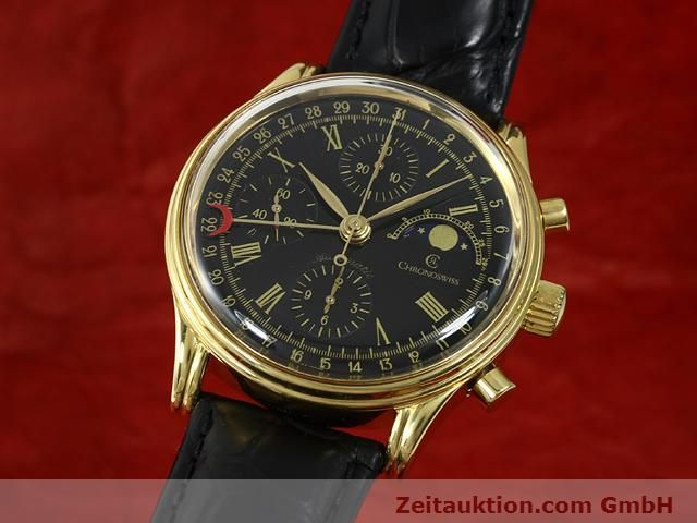 Used luxury watch Chronoswiss * gold-plated automatic Kal. VAL 7750  | 140824 04