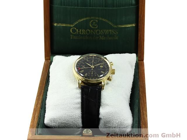 Used luxury watch Chronoswiss * gold-plated automatic Kal. VAL 7750  | 140824 07