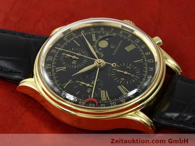 Used luxury watch Chronoswiss * gold-plated automatic Kal. VAL 7750  | 140824 12