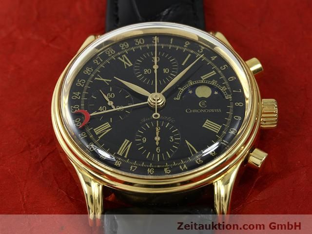 Used luxury watch Chronoswiss * gold-plated automatic Kal. VAL 7750  | 140824 13